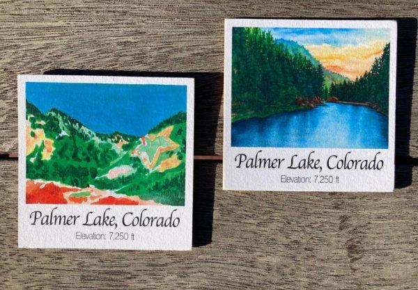 Palmer Lake Art Wood Magnets by Jamie Wilke