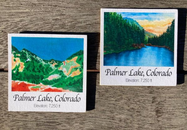 Palmer Lake Art Wood Magnets by Jamie Wilke