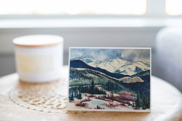 """Winter in Tabernash Colorado"" - Fine Art Notecard by Jamie Wilke"