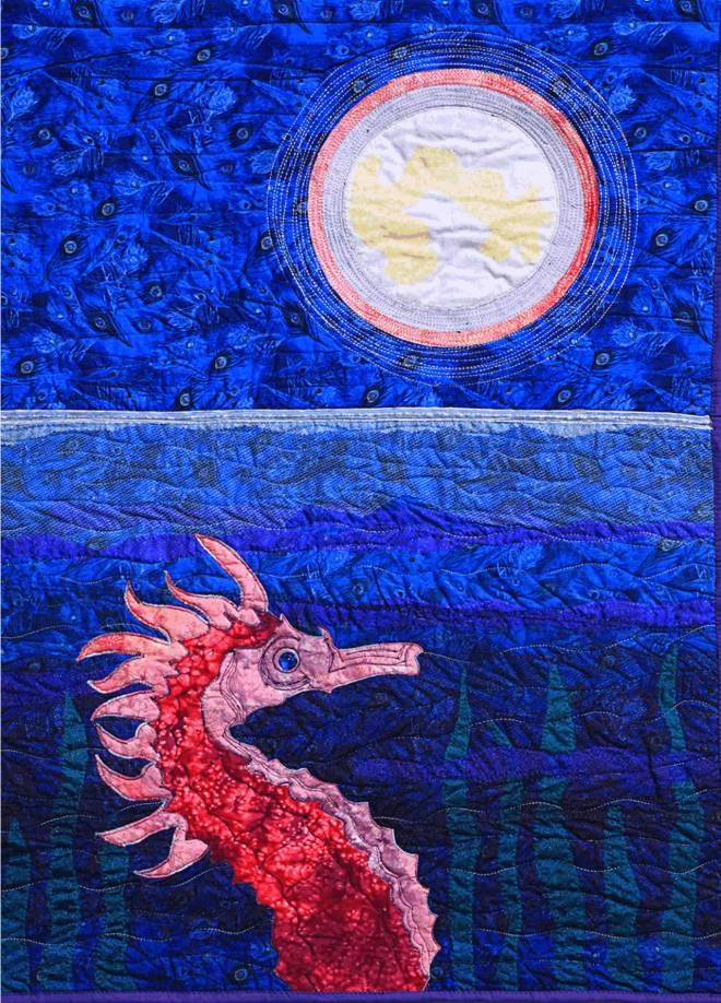 Seahorse Under the Moon, 29″x41″