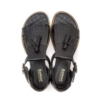 3rd Outfit: Black Flat Leather Sandals (Cloggs)