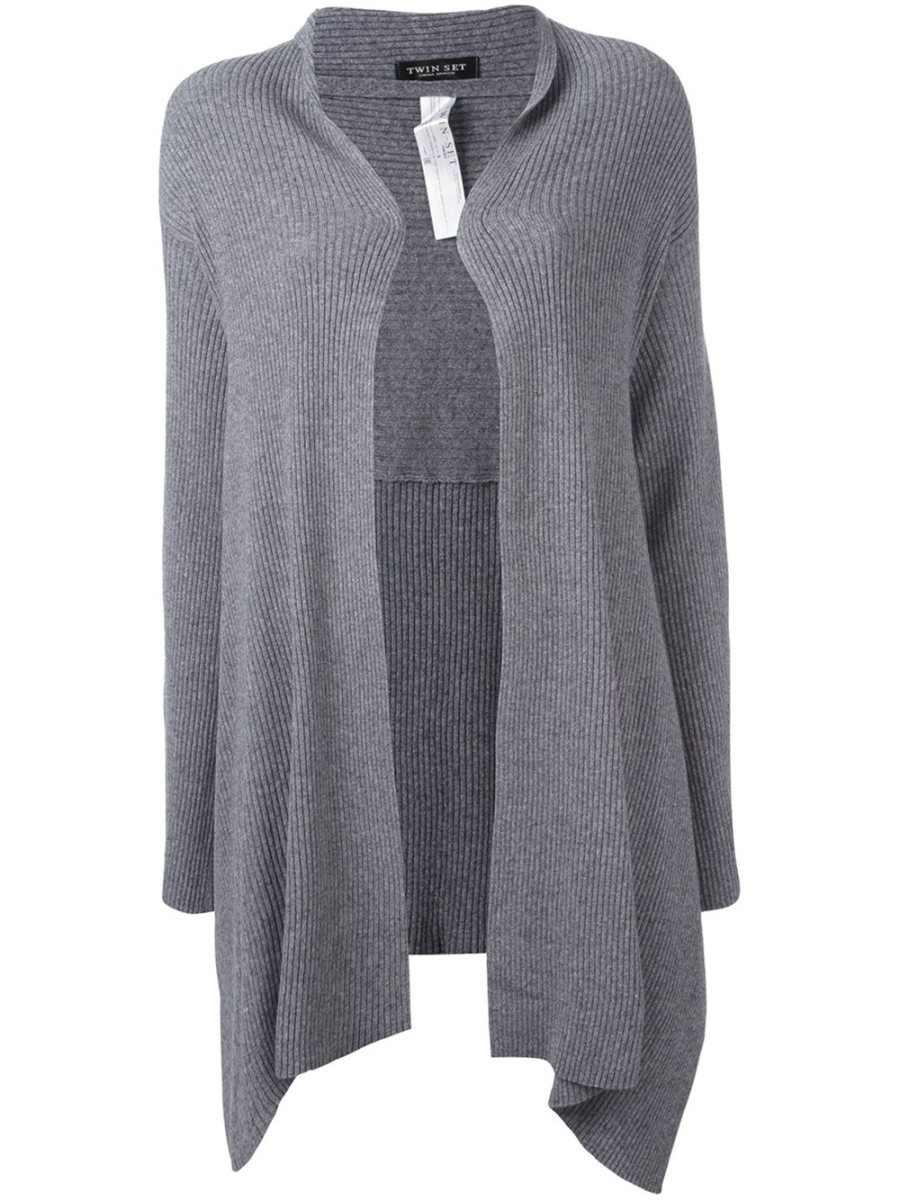 4th Outfit: TWIN-SET draped cardigan (Farfetch)