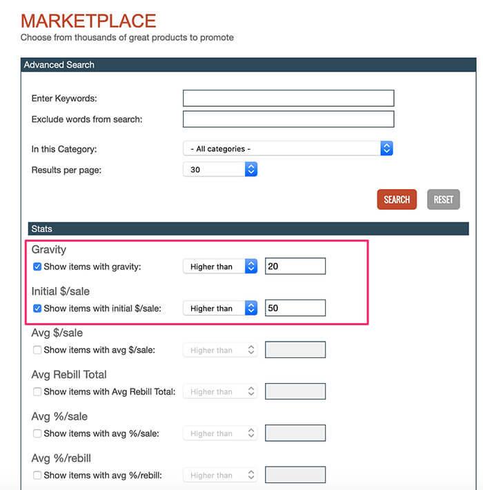 Clickbank Advanced Marketplace
