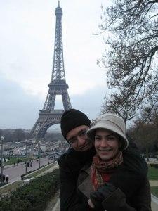 Marce y Jams en Paris, Navidad 2007