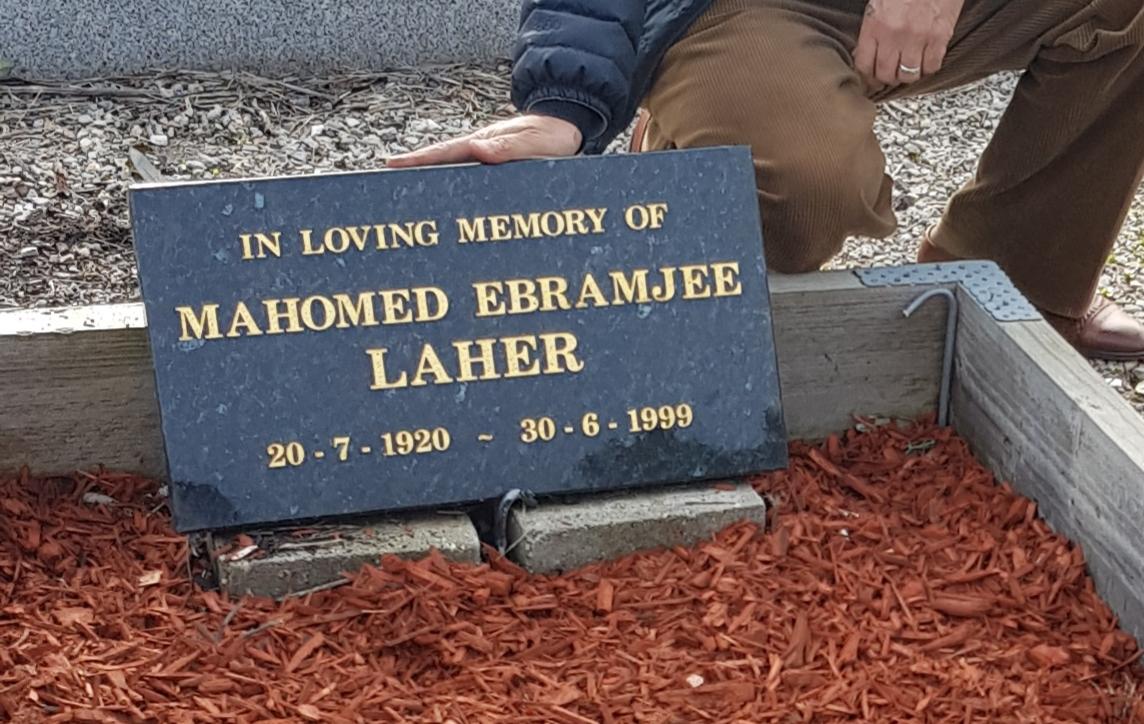 Mohammed Ebrahim Laher    (Manjra) 30 June 1999 Melbourne
