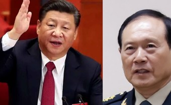 Chinese President Xi Jinping and Chinese Defense Minister Wei Fenghe