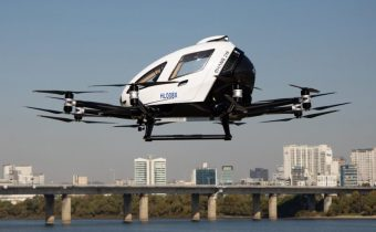 Unmanned aerial taxi test by South Korea