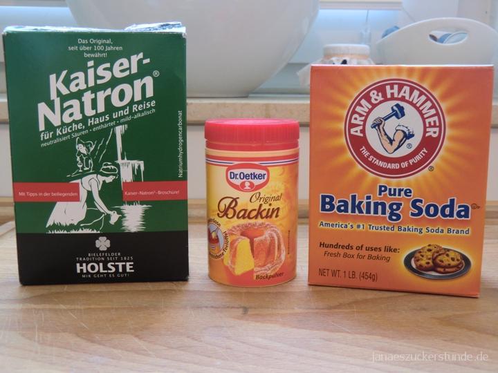 Unterschied zwischen Natron, Backpulver und Baking Soda