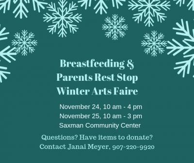 Breastfeeding & Parents Rest Stop / Winter Arts Faire