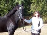 Nicole with her stallion, Zeus