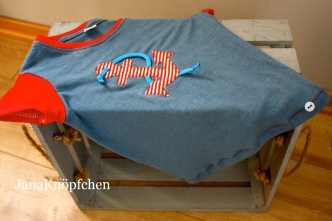 Upcyclingnähprojekt: neues T-Shirt nähen aus einem alten Frauent-shirt. JanaKnöpfchen - Nähen für Jungs