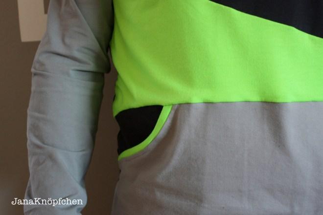 Hoodie Miro für Männer - Detail Tasche - JanaKnöpfchen nähen für Jungs