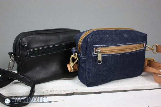 Kleine Handtasche im angesagten Design selber nähen - CamBag Tessa von CreaResa. Upcyclingprojekt Taschen nähen. JanaKnöpfchen. Nähen für Jungs - Nähblog