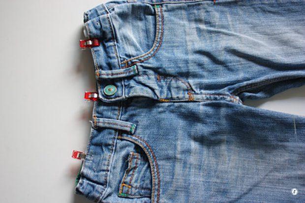 Tutorial Jeanshosen kürzen - Bund fixieren. JanaKnöpfchen - Nähen für Jungs. Nähblog
