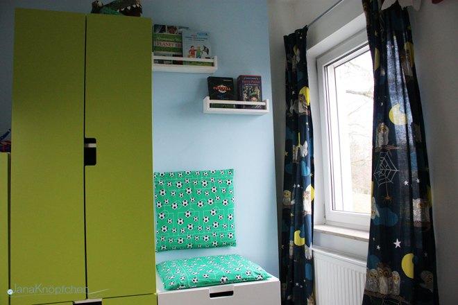 DIY Leseecke mit selbstgenähten Kissen für Jungs. Selbstgenähte Sitzkissen für coole Leseecke. JanaKnöpfchen - Nähen für Jungs