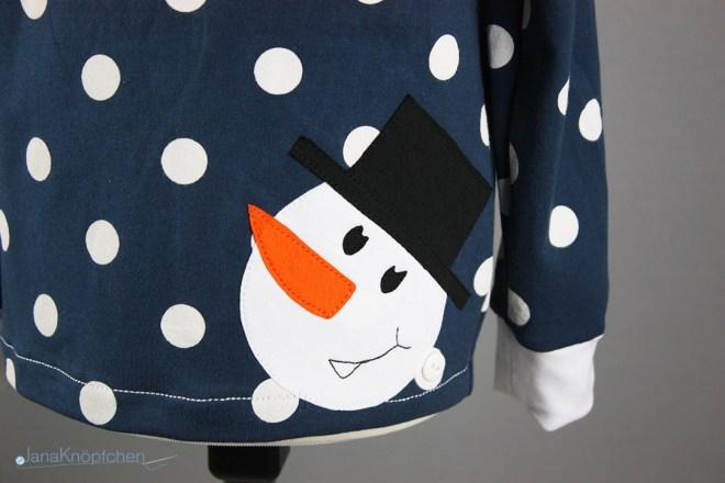 Shirt mit Schneemanapplikation nähen. JanaKnöpfchen - Nähen für Jungs