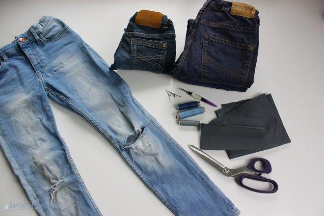 Tutorial Jeans flicken. Blogpost wie flicke ich eine Jeans. JanaKnöpfchen - Nähen für Jungs