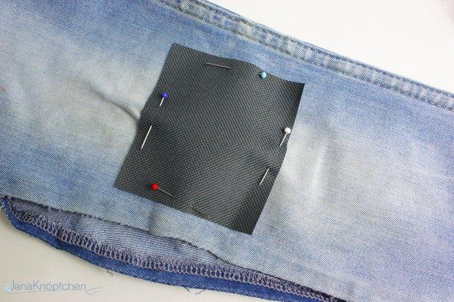 Tutorial Jeans flicken. Flicken aufnähen JanaKnöpfchen - Nähen für Jungs