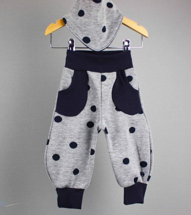 Babyset - Pumphose mit Tuch Gr. 62 als Geschenk zur Geburt. JanaKnöpfchen