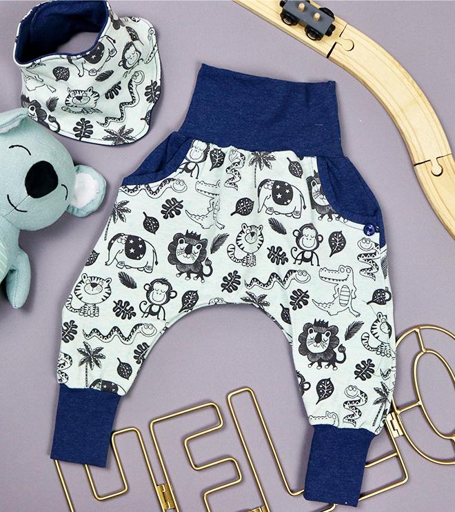 Babyset Dschungel für Jungs als Geschenk zur Geburt. JanaKnöpfchen