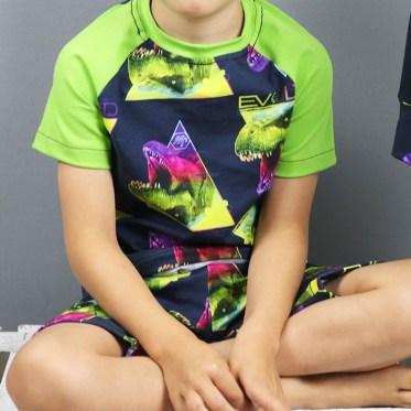Blogpost Dino-Schlafanzug und Dino-Shirt nähen. JanaKnöpfchen - Nähen für Jungs