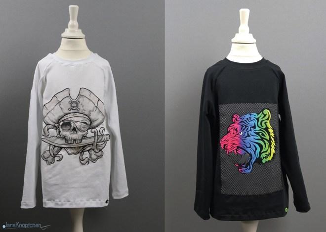 Upcycling: T-Shirt-Prints wiederverwenden und neue Langarmshirts nähen. JanaKnöpfchen - Nähen für Jungs