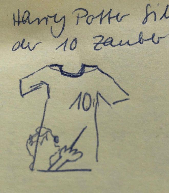 Harry Potter Geburtstagsshirt Skizze. JanaKnöpfchen - Nähen für Jungs