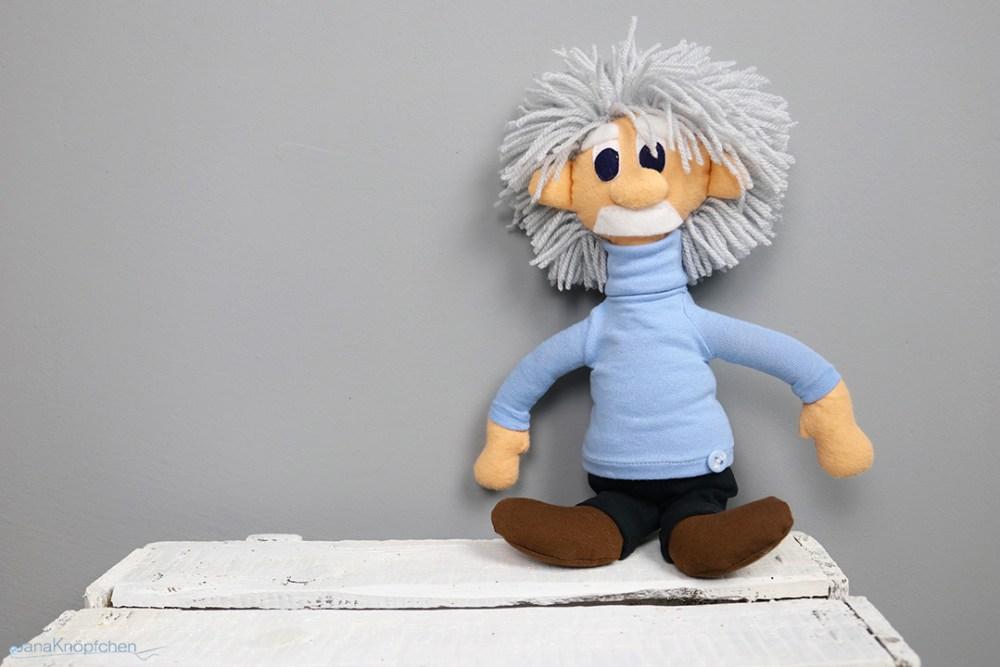 Albert Einstein Puppe nähen für den Projekttag in der Grundschule. JanaKnöpfchen - Nähen für Junga