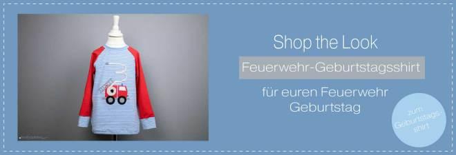 Feuerwehr-Geburtstagsshirt für kleine Feuerwehrfans. Link zum Shop. JanaKnöpfchen - Nähen für Jungs