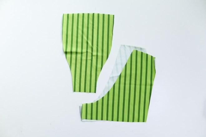 Schnittteile der hinteren Hose der Boxershorts. JanaKnöpfchen - Nähen für Jungs