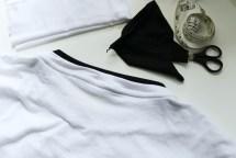 Rückseite des reparierten T-Shirts. JanaKnöpfchen - Nähen für Jungs
