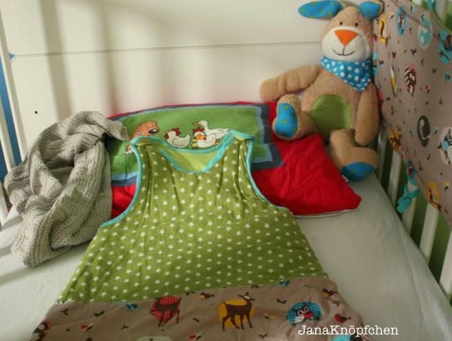 Kuschligen Schlafsack nähen für kleine Jungs. JanaKnöpfchen - Nähen für Jungs