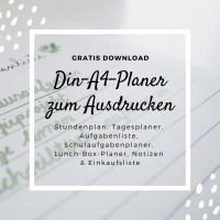 20 DIN-A4-Planer für Schule, Uni und Arbeit - free Download