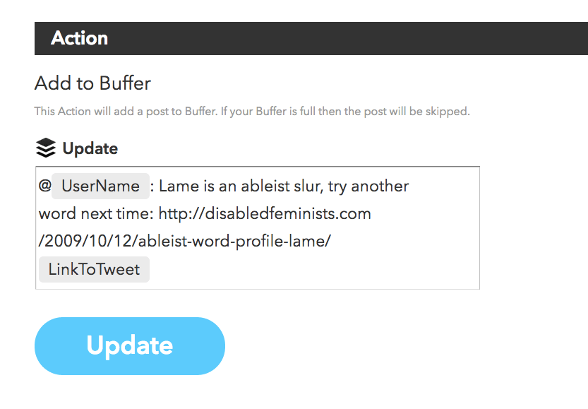 Buffer instructions