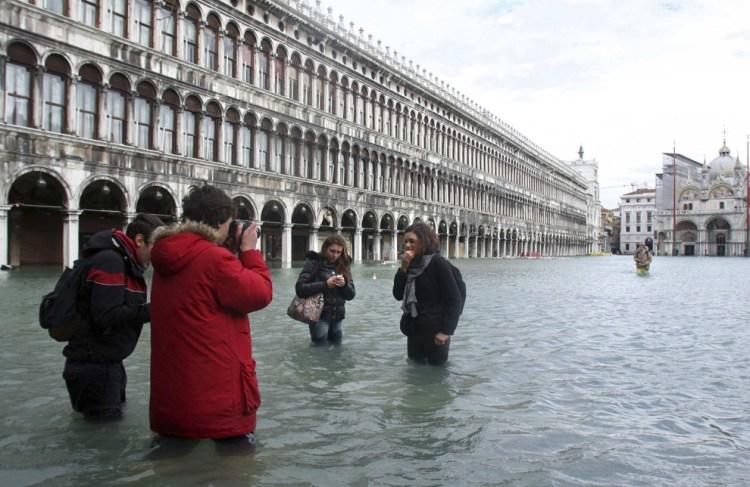 Venetië - San Marco - onder water