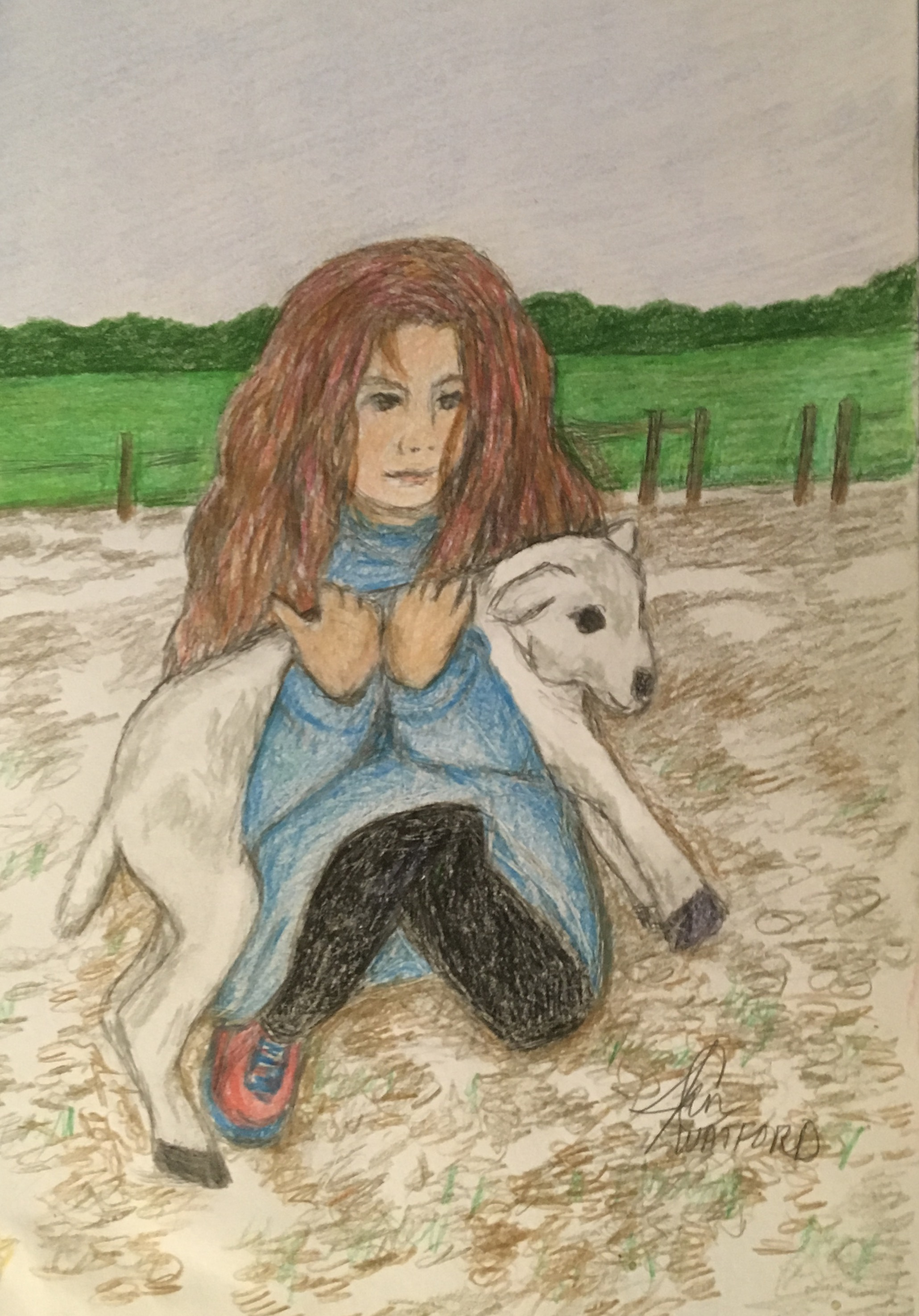 The-Lost-Lamb-colored-pencil
