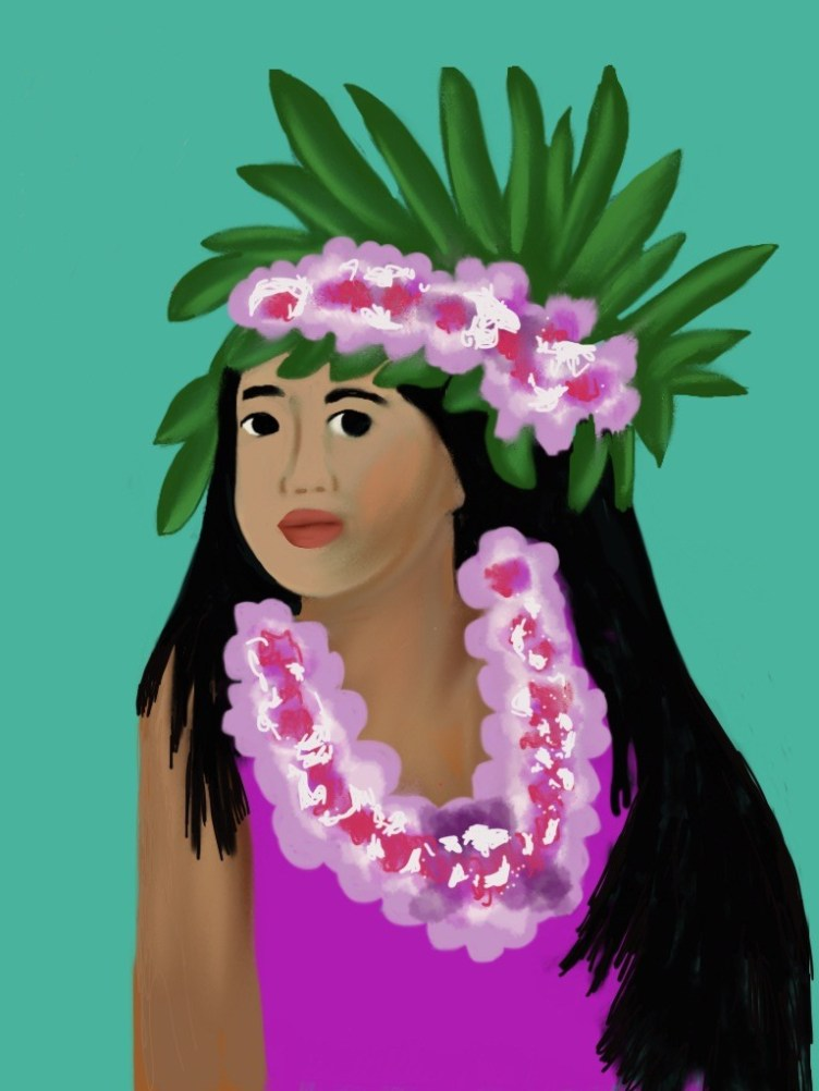 Tahitian Girl illustrated by Jan Clifton Watford