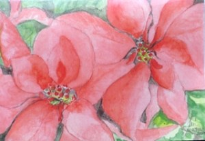 Poinsettias Greeting Cards