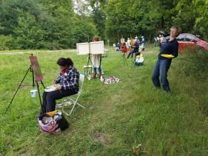 Plezier tijdens schildercursus in Frankrijk