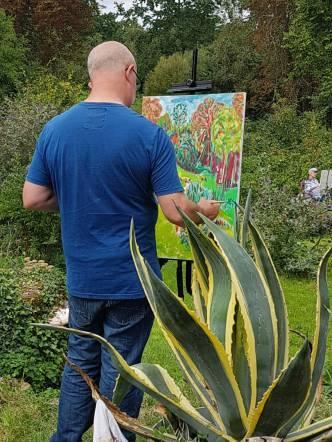 Prachtige kleuren bij deelnemer schildercursus in Frankrijk