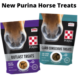 Purina Carb Conscious Horse Treats and Outlast Horse Treats at J&N Feed in Graham, Texas.
