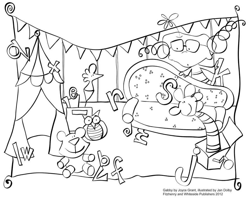 Gabby Colouring Pages