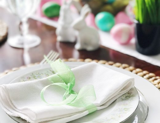 Simple, Fresh and Pretty Springtime and Easter Table Setting Ideas