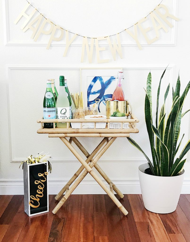 Put together a gorgeous bar cart for