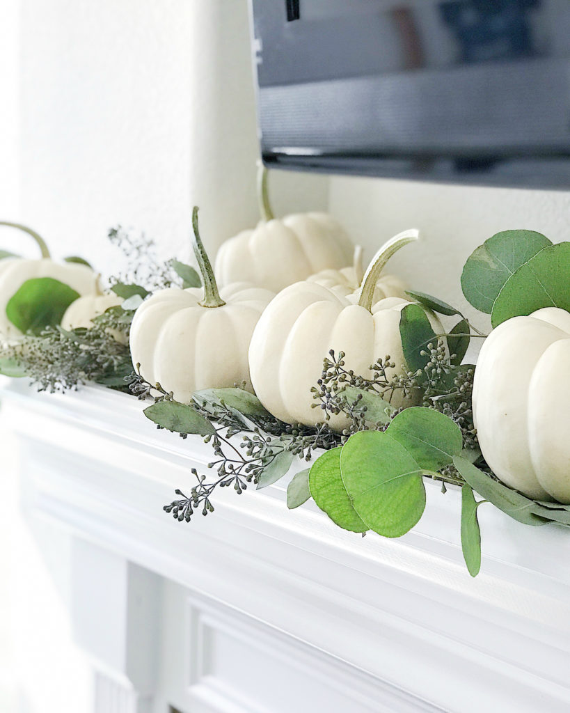 Simple Fall Decorating Ideas Using White Pumpkins Jane At Home