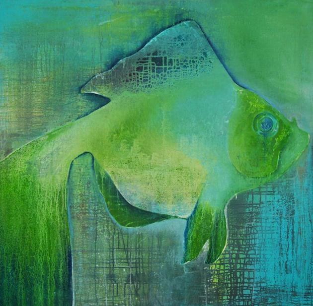 Fisk 2 100X100 cm · privat eje