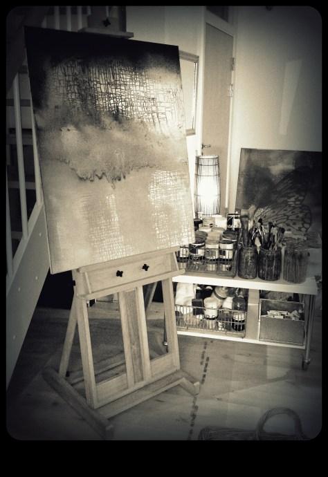 Atelier i stuen
