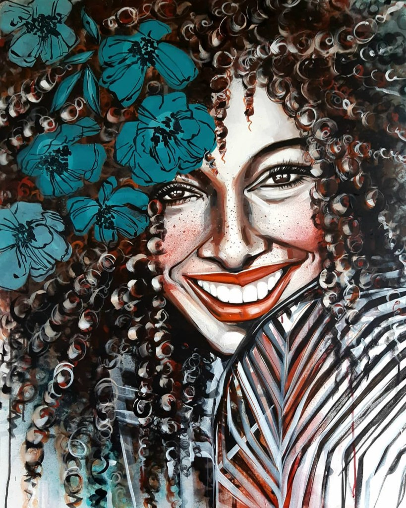SMILE no 4 · 100X80 cm · acrylic on canvas