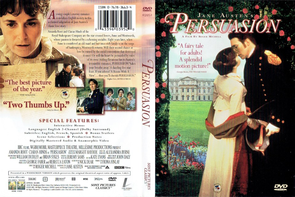 Capa DVD Persuasion 1995