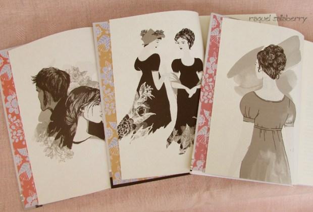 Caixa Jane Austen Nova Fronteira imagens opostas ao frontispício
